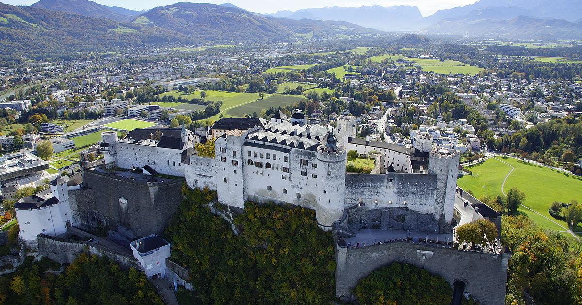 Bird-eye view of the Fortress Hohensalzburg